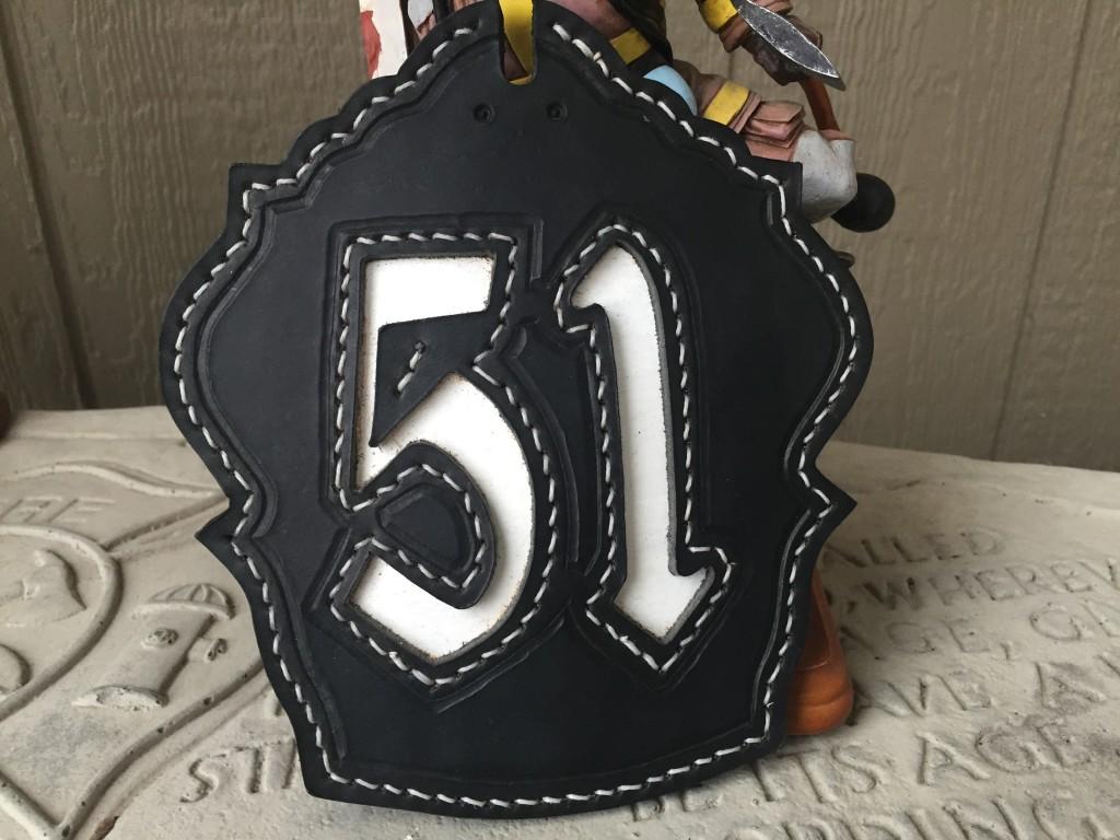 custom leather helmet shield