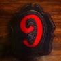 Custom Leather Fire Helmet Shield