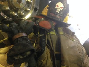custom leather firefighter gear