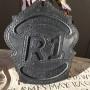 black fire helmet front