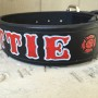 custom personalized fire department dog collar