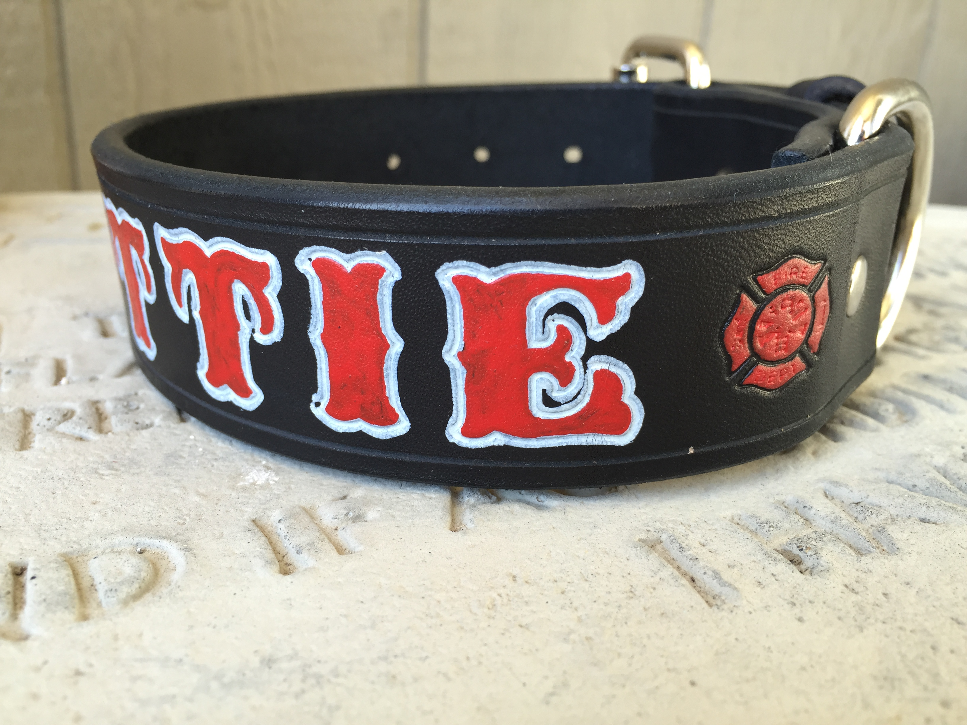 Firefighter Dog Collar Personalized And Custom Fire Helmet